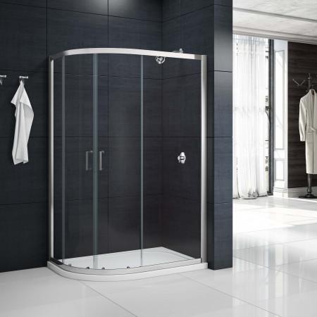 Merlyn MBox 2 Door Offset Quadrant Shower Enclosure 900 X 760mm