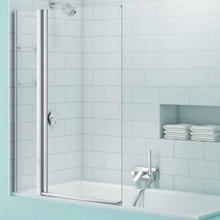 Merlyn SecureSeal Single Panel Bath Screen with Storage