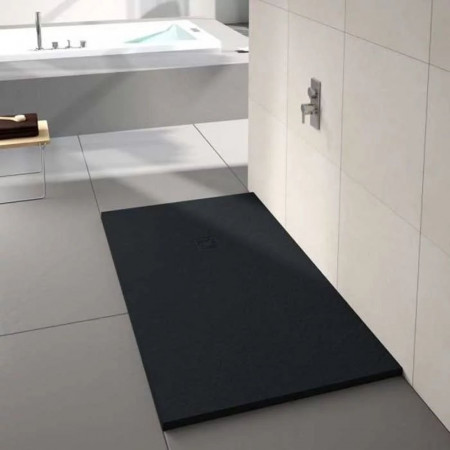 S2Y-Merlyn Truestone 1000 x 800mm Pure Black Rectangular Shower Tray-2