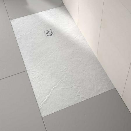 Merlyn Truestone 1000 x 800mm White Rectangular Tray