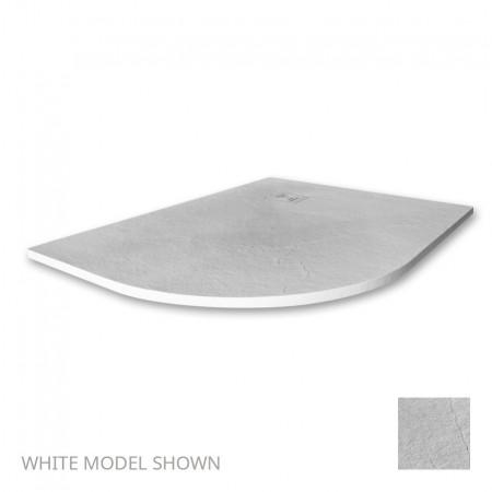 Merlyn Truestone 1200 x 900mm White Offset Quadrant Left Hand Tray 1