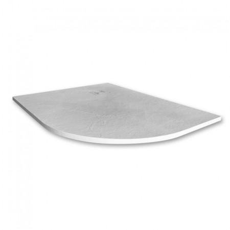 Merlyn Truestone 1200 x 900mm White Offset Quadrant Right Hand Tray