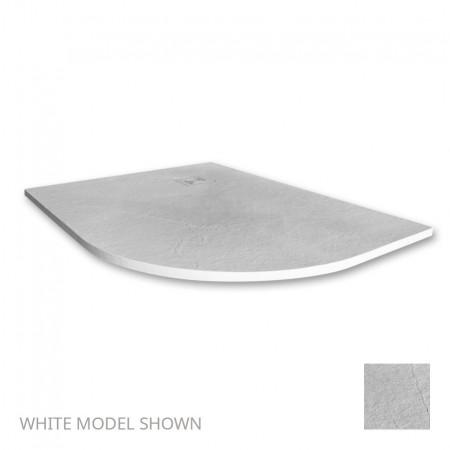 Merlyn Truestone 1200 x 900mm White Offset Quadrant Right Hand Tray 1