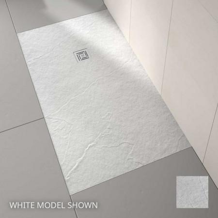 Merlyn Truestone 1700 x 800mm White Rectangular Tray
