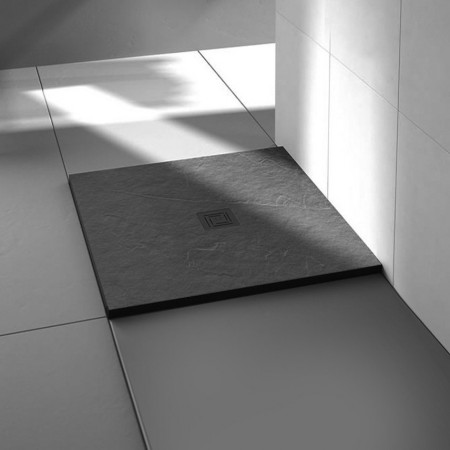 Merlyn Truestone 900 x 900mm Slate Black Square Tray