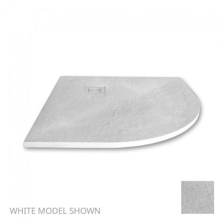 Merlyn Truestone 900 x 900mm White Quadrant Tray  1