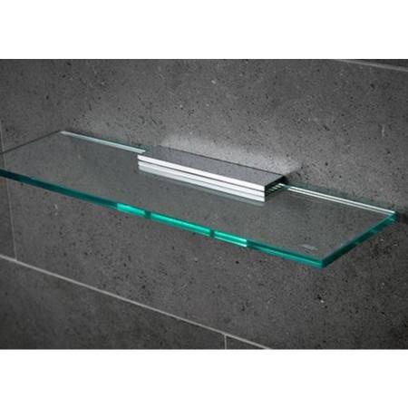 Miller 300mm Classic Glass Shelf with Chrome Fixing Bracket