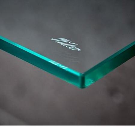 Miller 300mm Classic Glass Shelf with Chrome Fixing Bracket 2