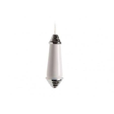 Miller Classic Chrome & White Ceramic Light Pull 6990C
