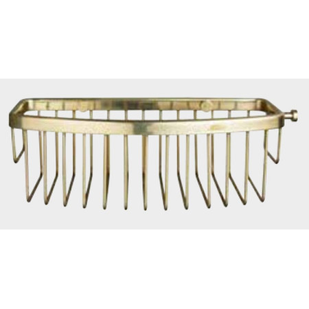 Miller Classic Gluable D Shaped Basket in Polished Brass