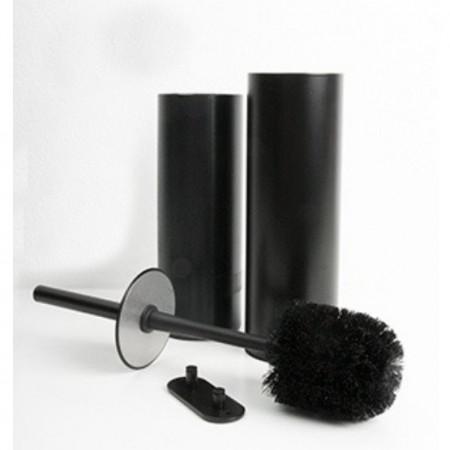 Miller Classic Matt Black Toilet Brush Set 2