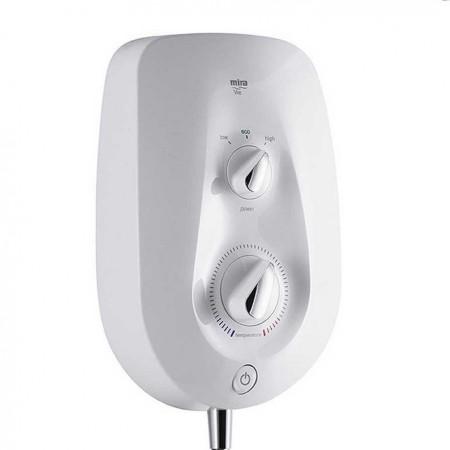 STY-Mira Vie Electric Shower 9.5kw White & Chrome-2