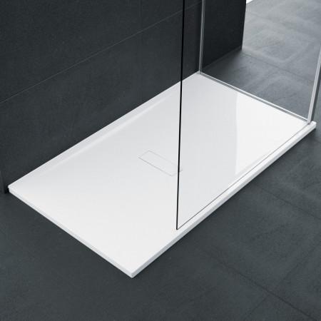Novellini Custom 1200 x 800mm Low Profile Level Access Shower Tray Room Setting