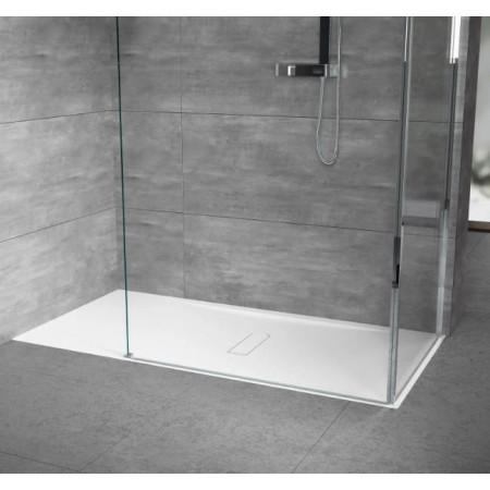 Novellini Custom 1400 x 700mm Low Profile Level Access Shower Tray Room Setting