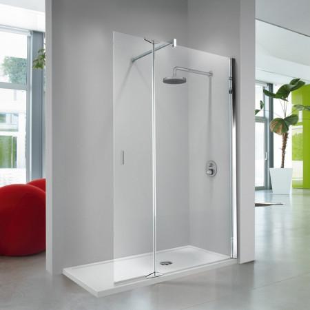 Novellini Kuadra H2 680mm Shower Panel with 370mm Deflector Panel