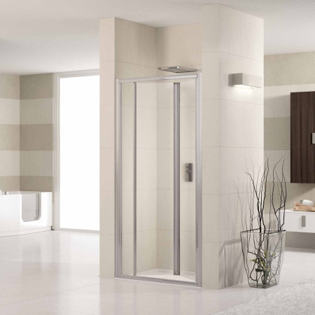 Novellini Lunes 1000mm Bifold Shower Door