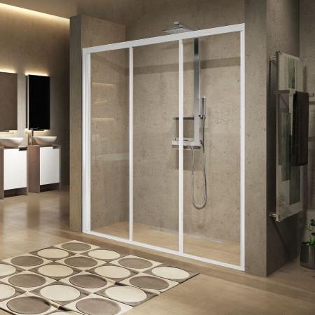Novellini Lunes 1200 Three Section Sliding Shower Door