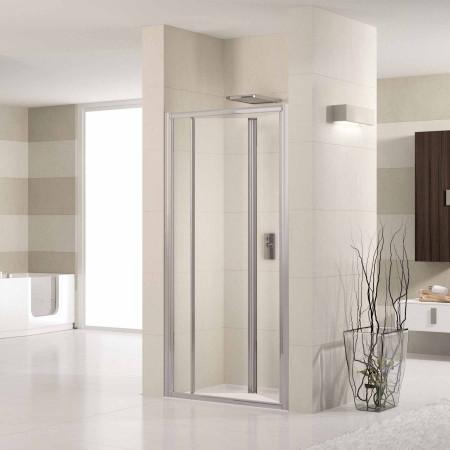 Novellini Lunes 900mm Bifold Shower Door