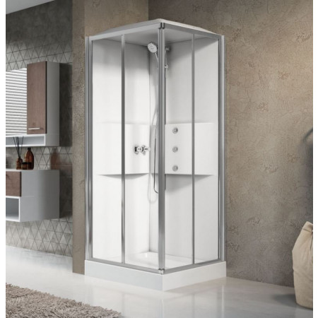 Novellini Media 2.0 A80 Shower Pod Corner Entry 800mm White