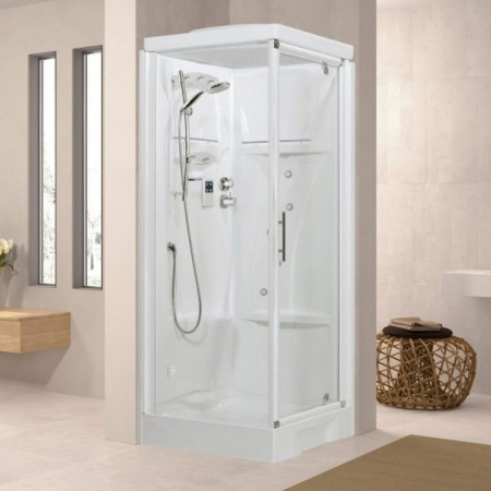 Novellini New Holiday GF80 800mm Pivot Door & Panel Steam & Shower Enclosure