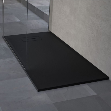 Novellini Novosolid 1400 x 700mm Shower Tray in Black