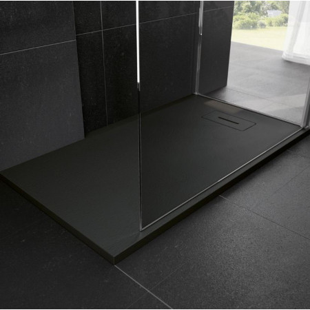 Novellini Novosolid 1400 x 700mm Shower Tray in Black 2