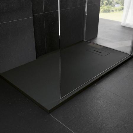 Novellini Novosolid 1800 x 800mm Shower Tray in Black 2