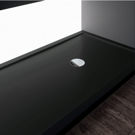 Novellini Olympic Plus Shower Tray 1400mm x 700mm , black finish