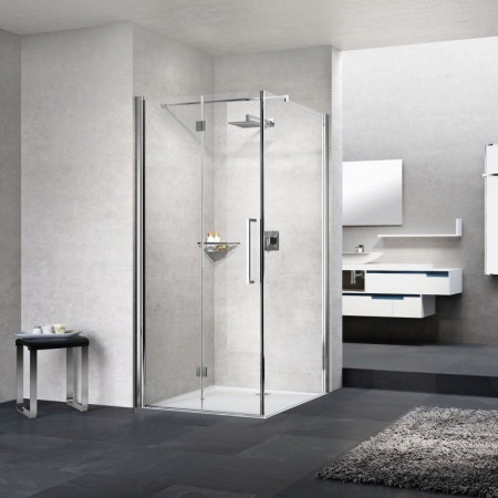 Novellini Young 2GS+F Bifold 1000mm Shower Enclosure (Right Hand)