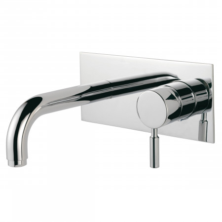 Pegler Visio Wall Mounted Monobloc Basin Mixer with Click Waste | 4K4003