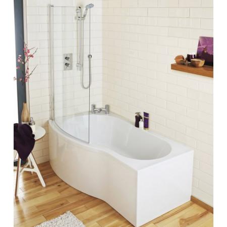Premier B-Shaped 1700mm left hand shower bath