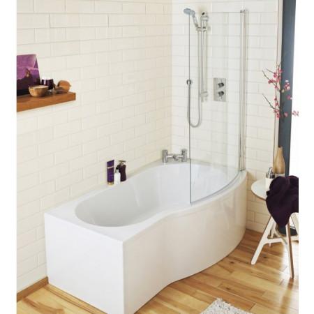 Premier B-Shaped 1700mm right hand shower bath