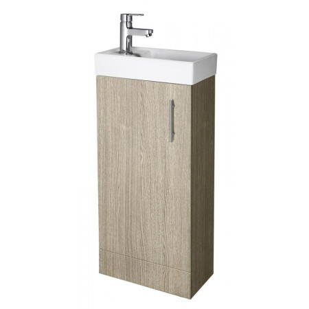 Premier Minimalist 400mm floorstanding light oak vanity unit with basin