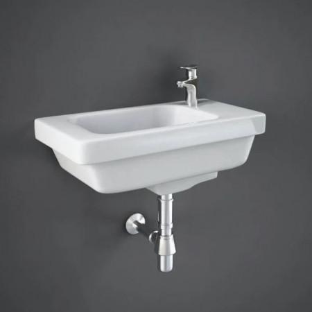 Rak Resort 450mm Slimline Basin with One Right Hand Tap Hole