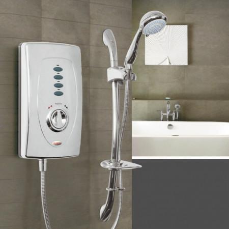 Redring Slimline 650 9.5KW Chrome Electric Shower