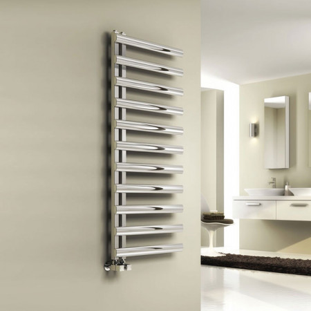 Reina Cavo Polished Stainless Steel Towel Radiator 880 x 500mm