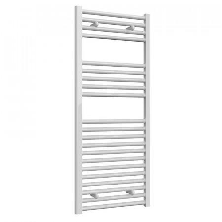 Reina Diva 1200 x 500mm Flat Heated Towel Rail White