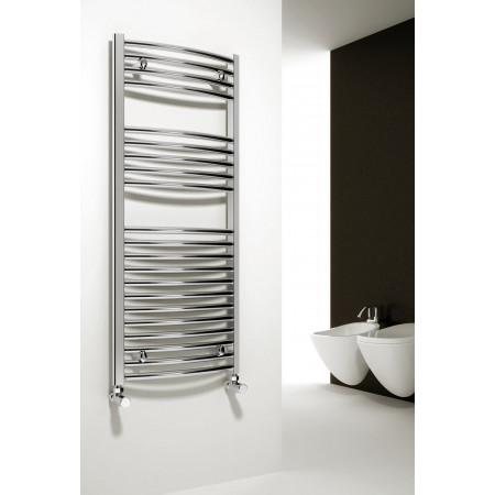 Reina Diva 800 x 450mm curved heated towel rail