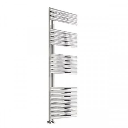 Reina Scalo 826 x 500mm Brushed Stainless Steel Towel Radiator