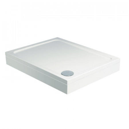 Roman Acrylic Capped Stone 800mm Square White Gloss Shower Tray