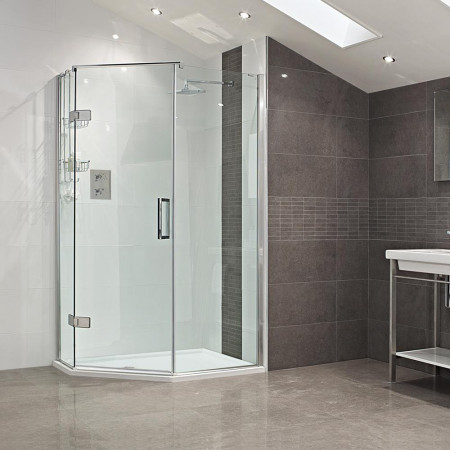 Roman Decem Neo Angle Shower Enclosure 1200 X 900 Left