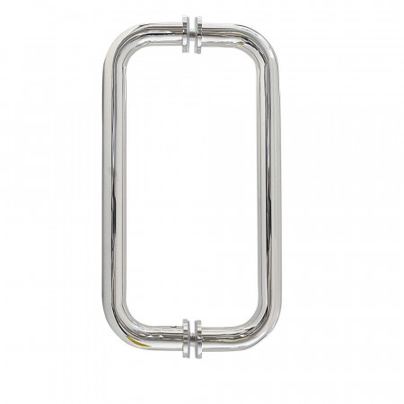 Roman Decemx Sliding Shower Door 1200mm Alcove Fitting with Curved Hardware