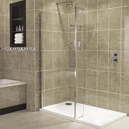 Roman Embrace 1000mm Wetroom Corner Panel