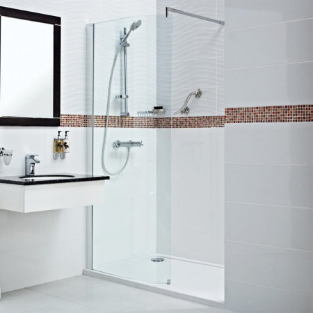 Roman Embrace 900mm Curved Wetroom Panel