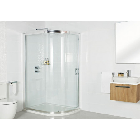 Roman Embrace One Door Offset Quadrant Shower Door 1000 x 800mm Room Setting