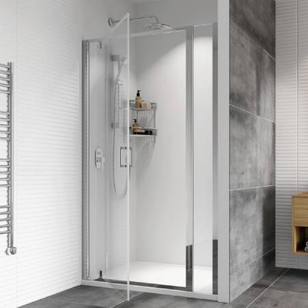 Roman Haven8 900mm Pivot Shower Door with Inline Panel
