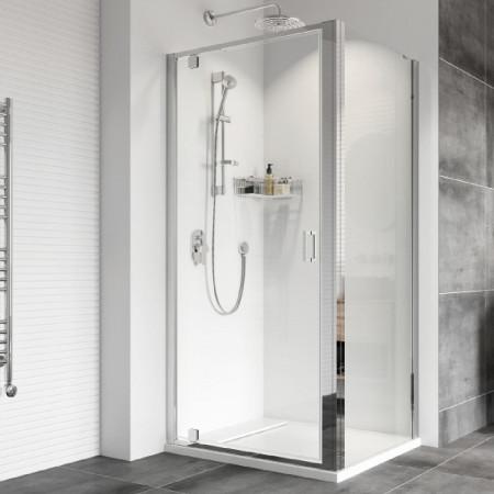 Roman Haven8 900mm Pivot Shower Door with Side Panel