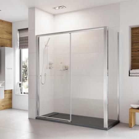 Roman Haven 1100mm Level Access Left Hand Sliding Shower