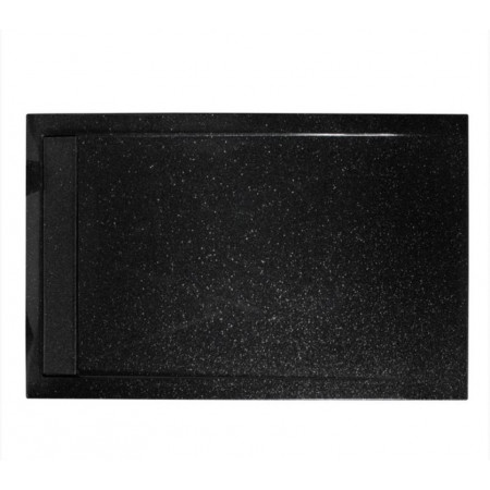 Roman Infinity 1600 x 800mm Low Level Shimmer Black Gloss Shower Tray