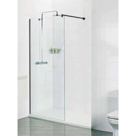 Roman Select 400mm Matt Black Corner Wetroom Panel (8mm)